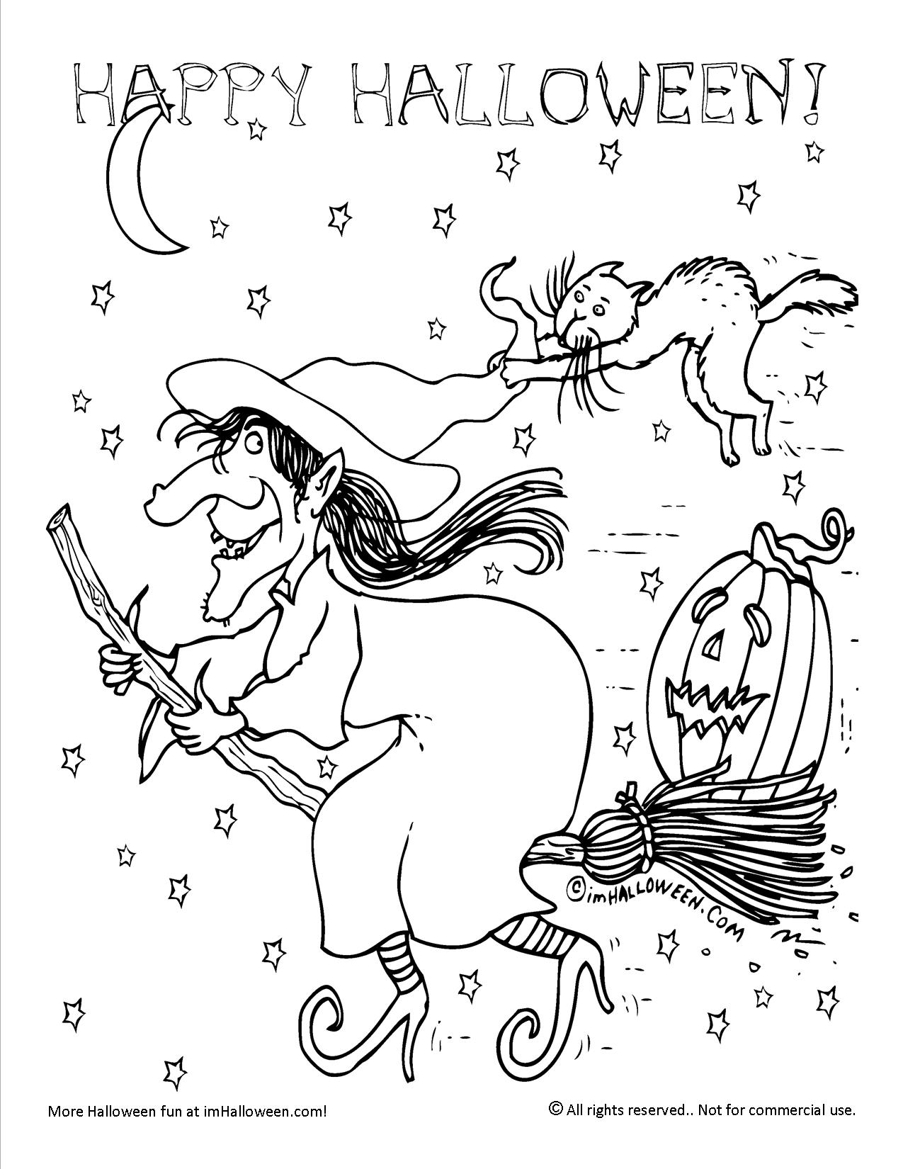 Color the Halloween Witch