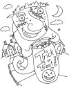 trick or treat coloring page thumb