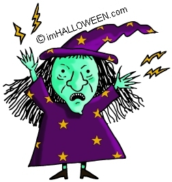 Spooky Witch Clip Art - copyright  © imHALLOWEEN.com
